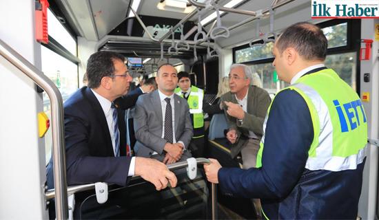 İmamoğlu Yerli Üretim Metrobüs'ün Test Sürüşüne Katıldı