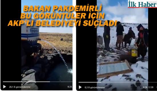 Bakan Pakdemir'li Bu Görüntüler İçin AKP'li Belediye'yi Suçladı