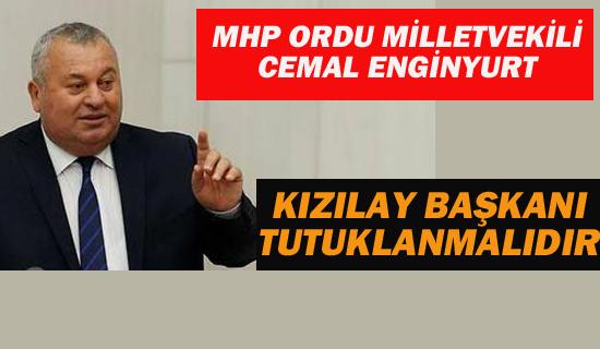 """MHP Milletvekili Enginyurt """"Kızılay Başkanı Tutuklanmalıdır"""