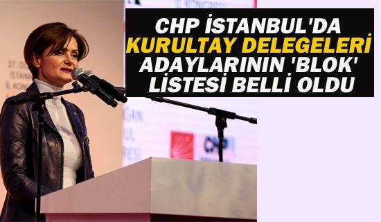 CHP İstanbul'da Kurultay Delegeleri Adaylarının 'Blok' Listesi Belli Oldu