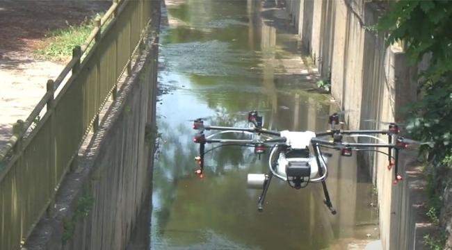 Tuzla Belediyesi'nden Drone İle İlaçlama