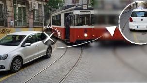 Tramvay Seferlerine 160 Kez Hatalı Park Engeli
