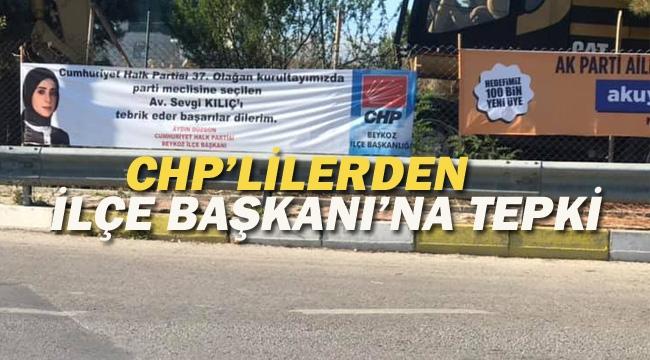 CHP'lilerden İlçe Başkanı'na Afiş Tepkisi