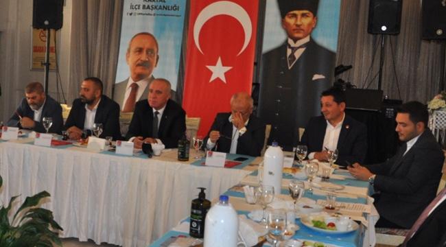CHP Kartal İlçe Başkanılığı, Esnaf Odaları Başkanlarıyla Bir Araya Geldi