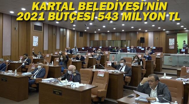 Kartal Belediyesi 2021 Bütçesi 543 Milyon TL