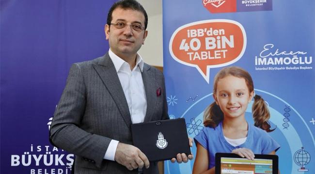 İBB 40 Bin Tablet Dağıtacak