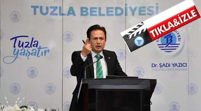 """Başkan Yazıcı """"İBB Tuzla'da Sınıfta Kaldı"""""""