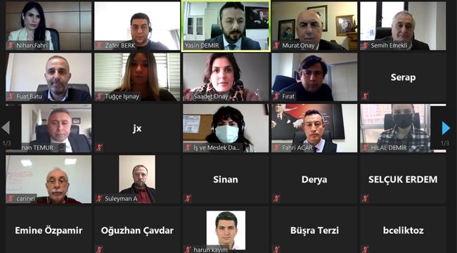 İŞKUR, Organize Sanayi Bölgesindeki İşyerleri İle Online İstişare Toplantısı Yaptı