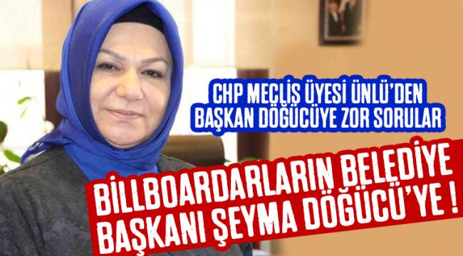 Sancaktepe Belediye Başkanı Döğücü'ye, CHP meclis üyesi Ünlü'den Zor Sorular!