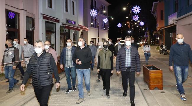 """Şile Üsküdar Caddesi'nde """"Şile Bezi Motifli Aydınlatma"""" Projesi"""