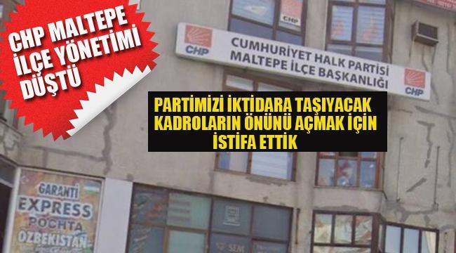 CHP Maltepe İlçe Yönetimi Düştü