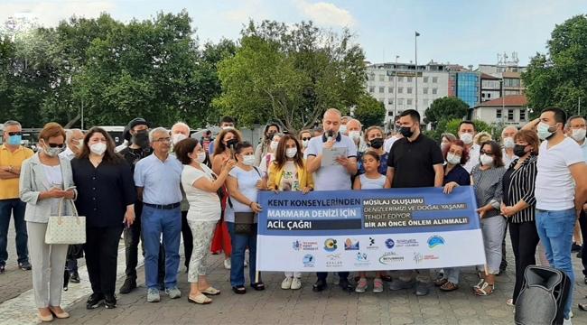 """İstanbul ve İlçe """"Kent Konseyleri""""nden """"Marmara Denizi İçin Acil Çağrı"""""""