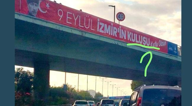 İBB'nin İzmir'i Kutlama Pankartı'nda Tepki Çeken Hata!